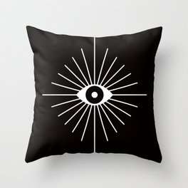 ELECTRIC EYES Throw Pillow