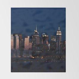 NYC Sunset Throw Blanket
