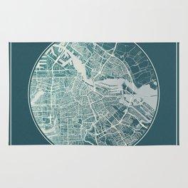 Amsterdam Map Planet Rug