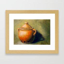 Clay Pot Framed Art Print