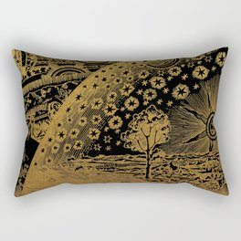 Antique Astronomy Illustration Rectangular Pillow