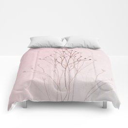 Rose Gold Twigs Comforters