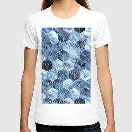 Blue Marble Gradient Cubes T-shirt