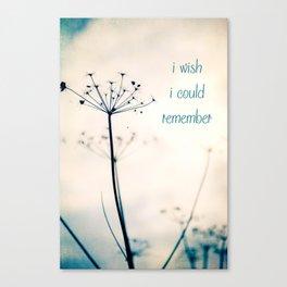 I whish I Canvas Print