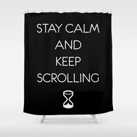 keep calm Shower Curtains featuring Keep calm by PassingEcho
