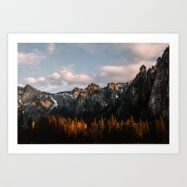 Yosemite Granite Cliffs Art Print