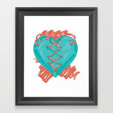 Ribbon Heart Framed Art Print
