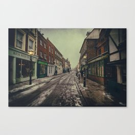 Rochester High Street in Snow Canvas Print