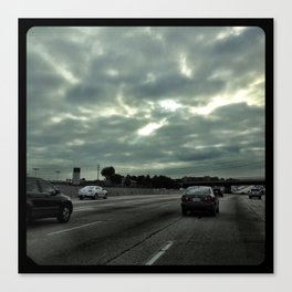 Clouds on the freeway. Canvas Print