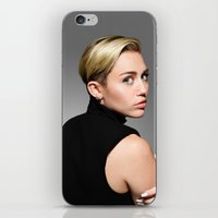 miley cyrus iPhone & iPod Skins featuring Miley Cyrus  by Shaina