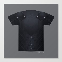 Armor Series: Stealth Leather Shirt Canvas Print