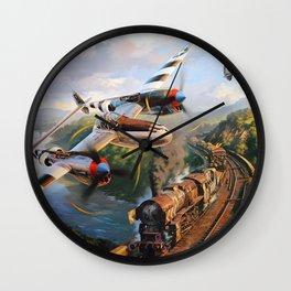 P-38 Lighting Wall Clock