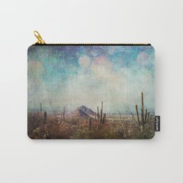 Two little mountains textured Carry-All Pouch