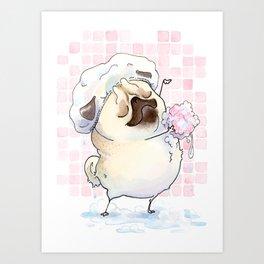 Bath Pugs: Loofah Art Print