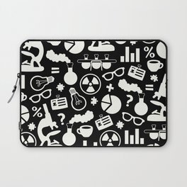 Black and White Science Pattern Laptop Sleeve