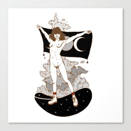 Goddess Stance Between Space & Earth Canvas Print