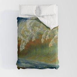 """Walter Crane """"Neptune's Horses, 1893"""" Comforters"""