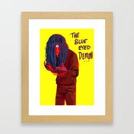 The Blue Eyed Demon Framed Art Print