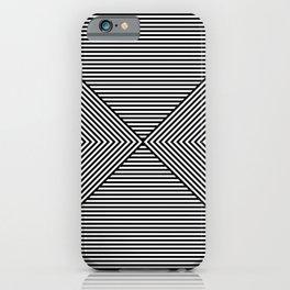 b&w stripes. 1e. hourglass iPhone Case