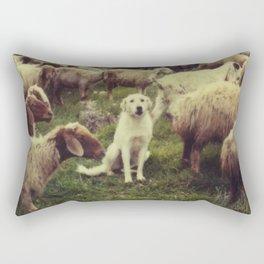 Herding dog, male, south of Israel, scaned sx-70 Polaroid Rectangular Pillow