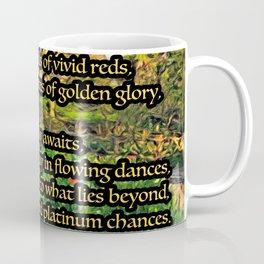 Flower Garden of Platinum Intention Poetry Art Coffee Mug