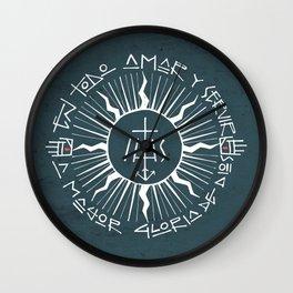 Religious christian jesuit symbol illustration Wall Clock