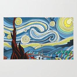 Cute Starry Night Rug