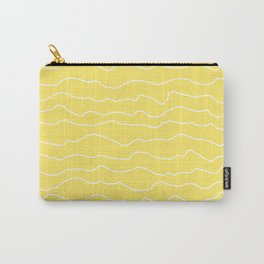 Yellow with White Squiggly Lines Carry-All Pouch