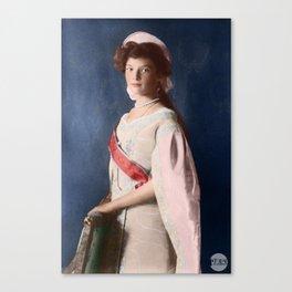 Tatiana Romanov - 1910 Colorized Canvas Print
