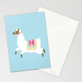Leaping Llama Stationery Cards
