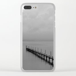 Misty Morning At The Lake Clear iPhone Case