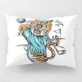 Tiger golfer WITH cap Pillow Sham