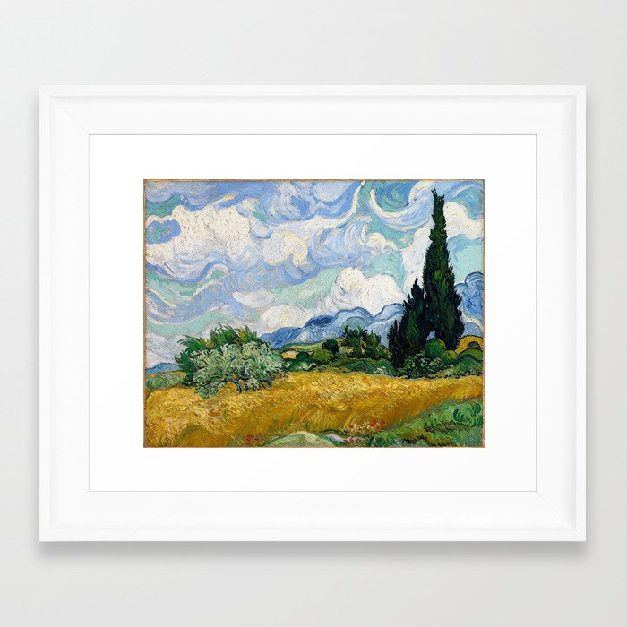 Vincent Van Gogh Wheat Field With Cypresses Framed Art Print by ...