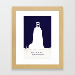 There's Always a Lighthouse v2 Framed Art Print