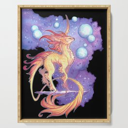 space unicorn Serving Tray