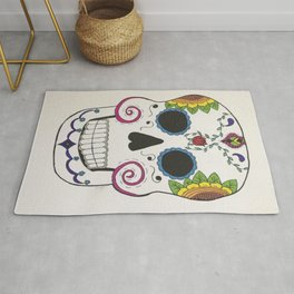 Day of the Dead Skull in Color Rug