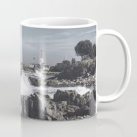religious Mugs featuring The wild sea by UtArt