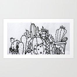 Pokey garden Art Print