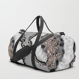 Yin Yang Agate Glitter Glam #9 #gem #decor #art #society6 Duffle Bag