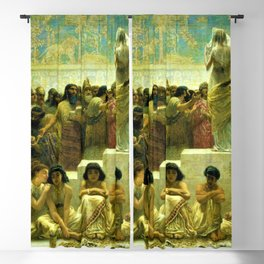 Classical Masterpiece The Slave Market Of Babylon by Edwin Long Blackout Curtain