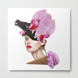 Flower Icecream by Lenka Laskoradova Metal Print