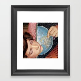 relax let science make you comfortable Framed Art Print