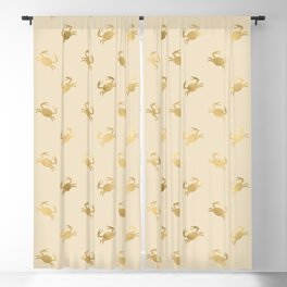 Little Golden Crab Pattern Blackout Curtain