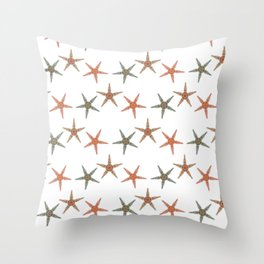 Fishtales: Starfish 5 pattern 1 Throw Pillow