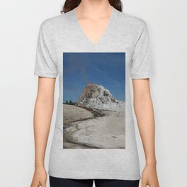 White Dome Unisex V-Neck