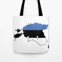 Estonia Map with Estonian Flag Tote Bag