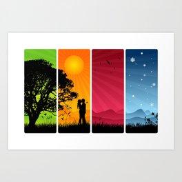 Seasons Passing Us By: Vector Art Art Print
