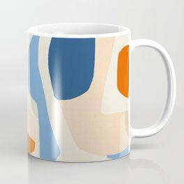Me & Mine, Abstract Bohemian Pastel Shapes Painting, Eclectic Colorful Graphic Design Coffee Mug