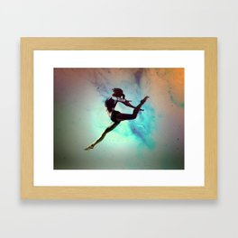 Ballet Dancer Feat Lady Dreams Abstract Art Framed Art Print