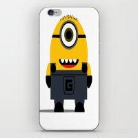 minion iPhone & iPod Skins featuring Minion by Ian Zandi